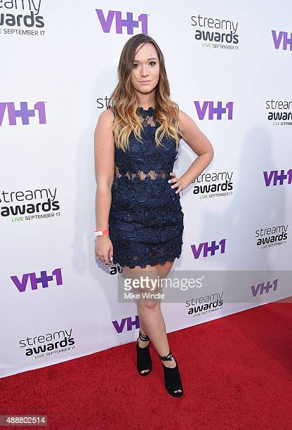 Internet personality Alisha Marie attends VH1's 5th Annual Streamy Awards at the Hollywood Palladium on Thursday September 17 2015 in Los Angeles...