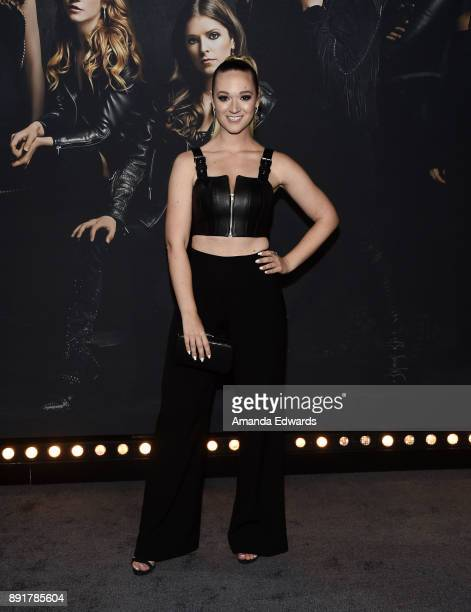 Internet personality AlishaMarie arrives at the premiere of Universal Pictures' Pitch Perfect 3 on December 12 2017 in Hollywood California