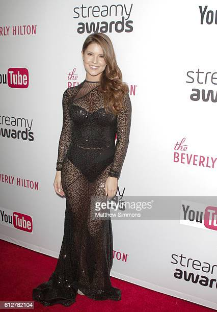 Internet personality Amanda Cerny attends the 2016 Streamy Awards at The Beverly Hilton Hotel on October 4 2016 in Beverly Hills California