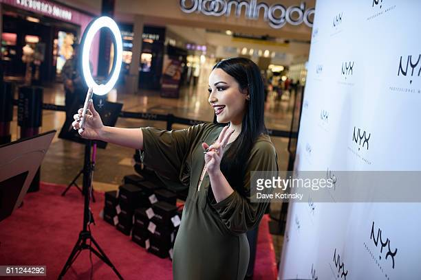 Internet Personality Amanda Ensing attends the NYX Professional Makeup Store Willowbrook Grand Opening VIP Party on February 18 2016 in Wayne New...