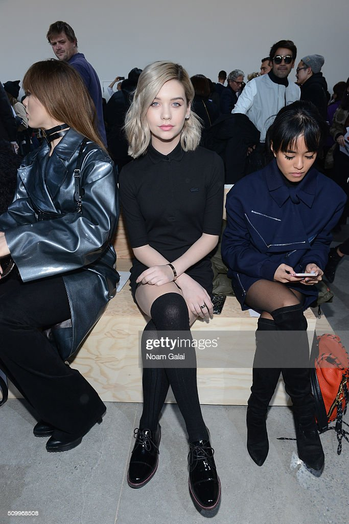 Internet Personality, Amanda Steel, attends the Lacoste Fall 2016 fashion show during New York Fashion Week at Spring Studios on February 13, 2016 in New York City.