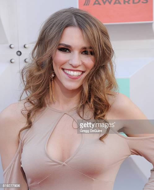 Internet personality Amymarie Gaertner arrives at the 51st Academy Of Country Music Awards at MGM Grand Garden Arena on April 3 2016 in Las Vegas...