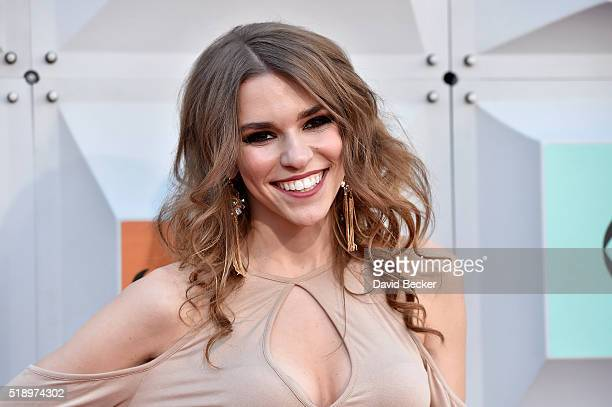 Internet personality Amymarie Gaertner attends the 51st Academy of Country Music Awards at MGM Grand Garden Arena on April 3 2016 in Las Vegas Nevada