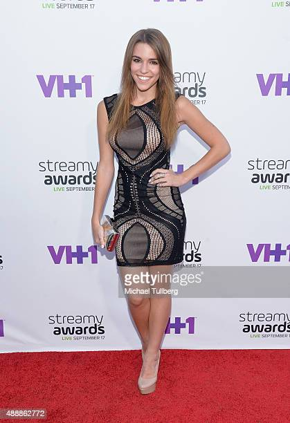 Internet personality Amymarie Gaertner attends the 5th Annual Streamy Awards at Hollywood Palladium on September 17 2015 in Los Angeles California