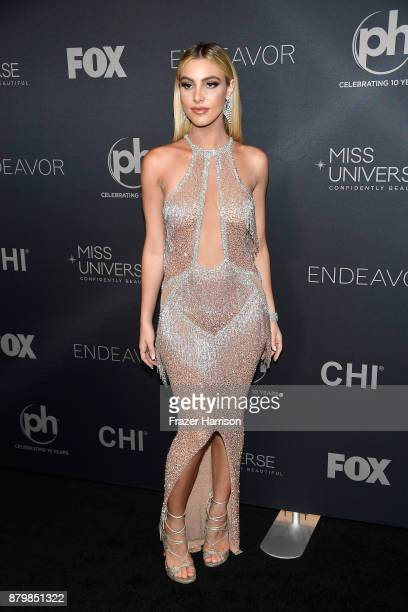 Internet personality and pageant judge Lele Pons attends the 2017 Miss Universe Pageant at Planet Hollywood Resort Casino on November 26 2017 in Las...