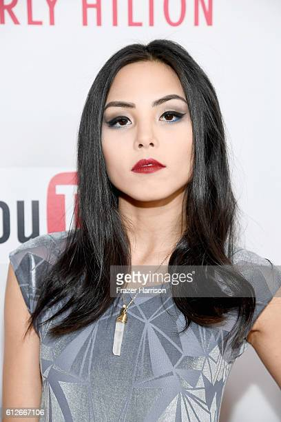 Internet personality Anna Akana attends the 6th annual Streamy Awards hosted by King Bach and live streamed on YouTube at The Beverly Hilton Hotel on...