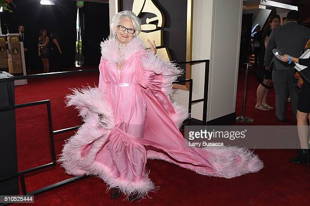 Internet personality Batty Winkle attends The 58th GRAMMY Awards at Staples Center on February 15 2016 in Los Angeles California