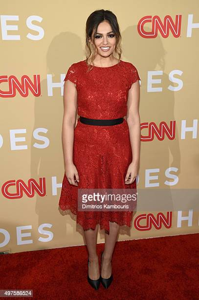 Internet personality Bethany Mota attends CNN Heroes 2015 Red Carpet Arrivals at American Museum of Natural History on November 17 2015 in New York...