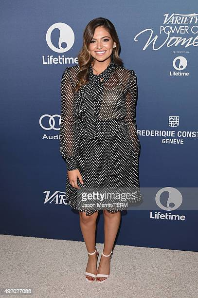 Internet personality Bethany Mota attends Variety's Power Of Women Luncheon at the Beverly Wilshire Four Seasons Hotel on October 9 2015 in Beverly...
