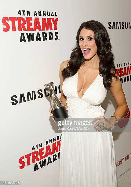 Internet personality Brittany Furlan winner of the Viner of the Year award attends the 4th Annual Streamy Awards presented by CocaCola on September 7...