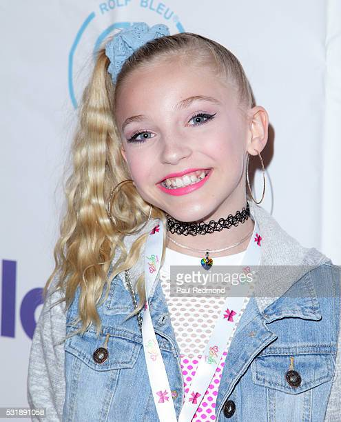 Internet personality Brynn Rumfallo on the red carpet at JoJo Siwa from 'Dance Moms' 13th Birthday 80's Dance Party at Madame Tussauds on May 16 2016...
