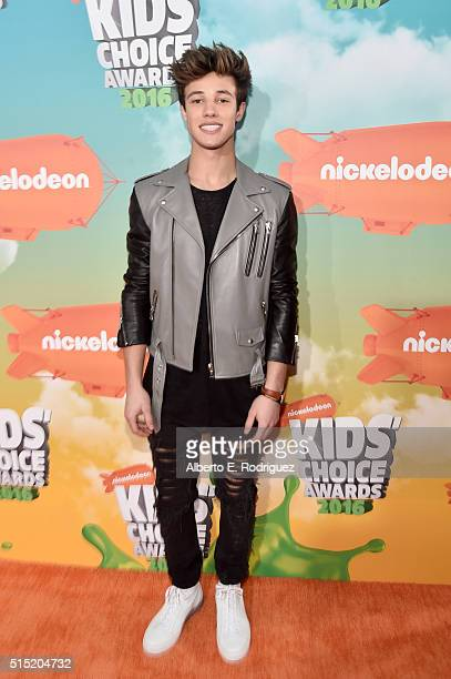 Internet personality Cameron Dallas attends Nickelodeon's 2016 Kids' Choice Awards at The Forum on March 12 2016 in Inglewood California