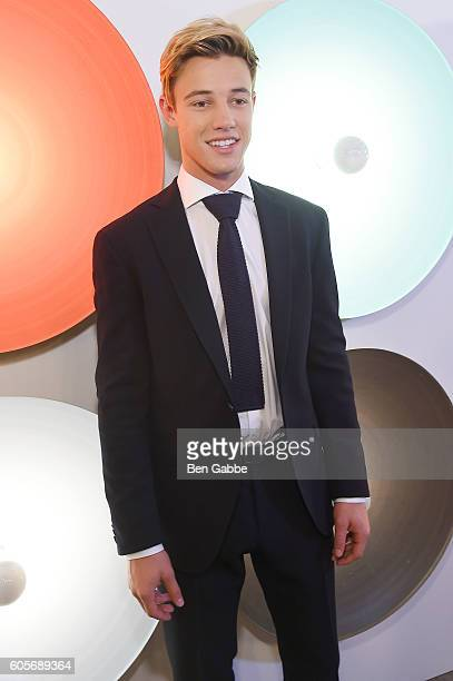 Internet personality Cameron Dallas attends the Boss Womenswear fashion show during New York Fashion Week September 2016 at The Gallery Skylight at...