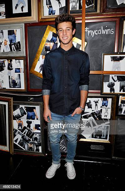 Internet personality Cameron Dallas attends the Calvin Klein Jeans hosted music event in Los Angeles to celebrate the fall 2015 ad campaign at The...