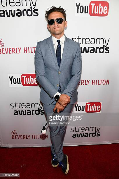 Internet personality Casey Neistat attends the 6th annual Streamy Awards hosted by King Bach and live streamed on YouTube at The Beverly Hilton Hotel...