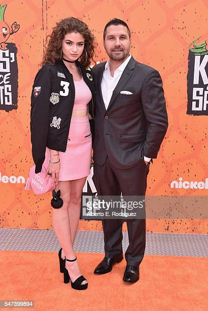 Internet personality Dytto and guest attend the Nickelodeon Kids' Choice Sports Awards 2016 at UCLA's Pauley Pavilion on July 14, 2016 in Westwood,...