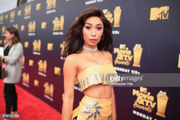 Internet personality Eva Gutowski attends the 2018 MTV Movie And TV Awards at Barker Hangar on June 16 2018 in Santa Monica California