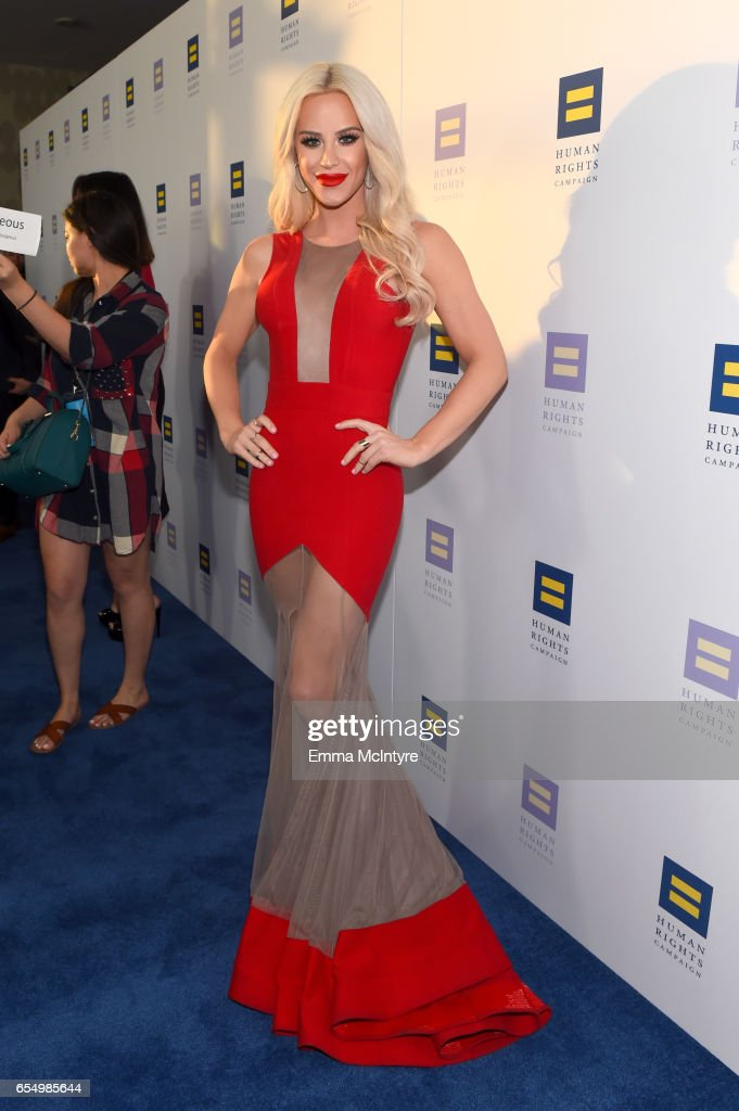 Internet personality Gigi Gorgeous at The Human Rights Campaign 2017 Los Angeles Gala Dinner at JW Marriott Los Angeles at L.A. LIVE on March 18, 2017 in Los Angeles, California.