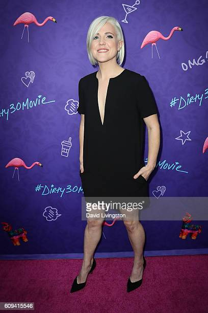 Internet personality Hannah Hart arrives at the Premiere of Lionsgate's 'Dirty 30' at the ArcLight Hollywood on September 20 2016 in Hollywood...