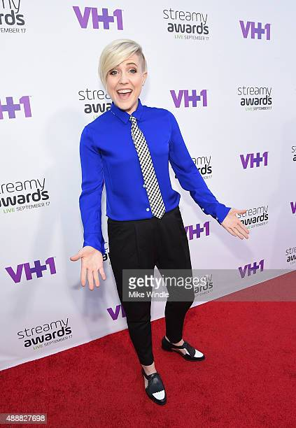 Internet personality Hannah Hart attends VH1's 5th Annual Streamy Awards at the Hollywood Palladium on Thursday September 17 2015 in Los Angeles...