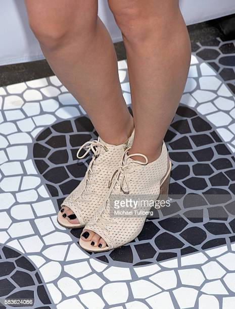 Internet personality iJustine , shoe detail, attends the first Olympics Soci@l Opening Ceremony in advance of NBC's coverage of the 2016 Rio Olympics...