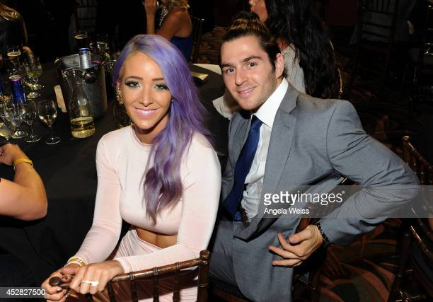 Internet personality Jenna Marbles and guest in the audience at the 2014 Young Hollywood Awards brought to you by Samsung Galaxy at The Wiltern on...