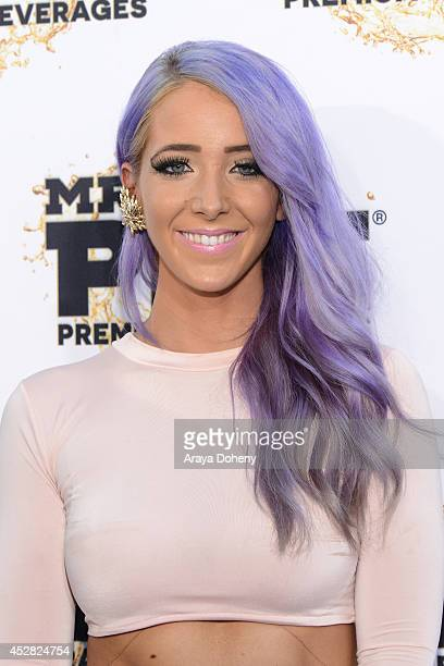 Internet personality Jenna Marbles attends the 2014 Young Hollywood Awards brought to you by Mr Pink held at The Wiltern on July 27 2014 in Los...