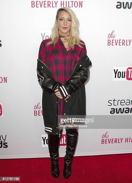 Internet personality Jenna Marbles attends the 2016 Streamy Awards at The Beverly Hilton Hotel on October 4 2016 in Beverly Hills California