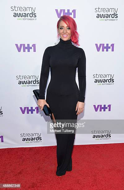 Internet personality Jenna Marbles attends the 5th Annual Streamy Awards at Hollywood Palladium on September 17 2015 in Los Angeles California