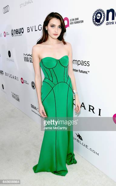 Internet Personality Jessica Clements attends the 25th Annual Elton John AIDS Foundation's Academy Awards Viewing Party at The City of West Hollywood...