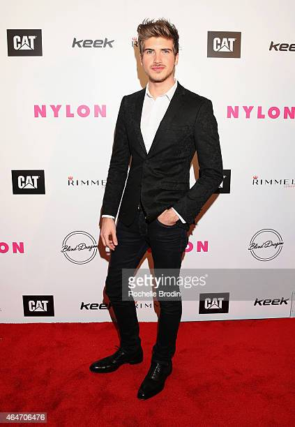 Internet personality Joey Graceffa attends NYLON Magazine's Spring Fashion Issue Celebration hosted by Rita Ora at Blind Dragon on February 27 2015...