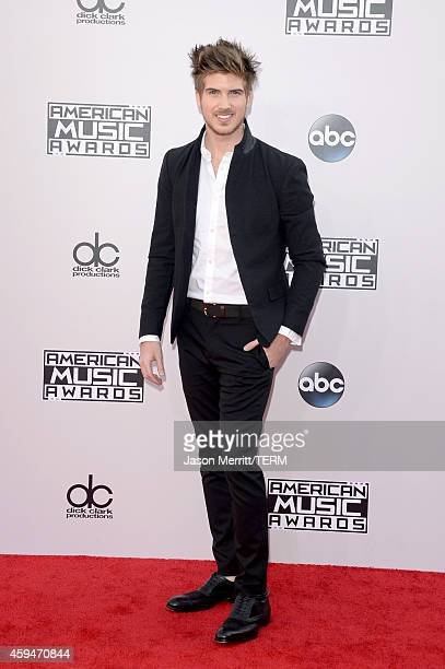 Internet personality Joey Graceffa attends the 2014 American Music Awards at Nokia Theatre LA Live on November 23 2014 in Los Angeles California
