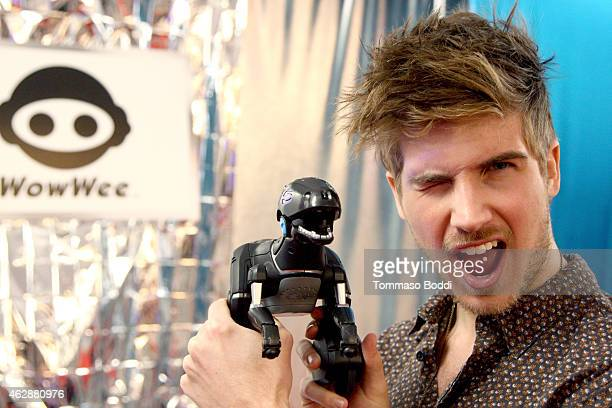 Internet personality Joey Graceffa attends the GRAMMY gift lounge during The 57th Annual GRAMMY Awards at the Staples Center on February 6 2015 in...