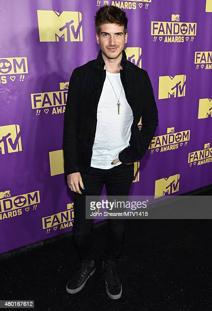 Internet personality Joey Graceffa attends the MTV Fandom Awards San Diego at PETCO Park on July 9 2015 in San Diego California