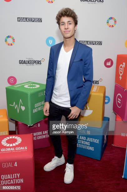 Internet personality Juanpa Zurita attends Goalkeepers 2017 at Jazz at Lincoln Center on September 20 2017 in New York City Goalkeepers is organized...