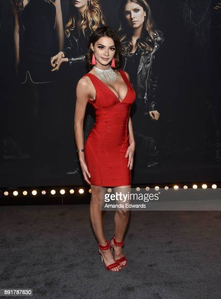 Internet personality Kristen Hancher arrives at the premiere of Universal Pictures' Pitch Perfect 3 on December 12 2017 in Hollywood California