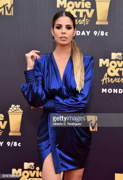 Internet personality Laura Lee attends the 2018 MTV Movie And TV Awards at Barker Hangar on June 16 2018 in Santa Monica California