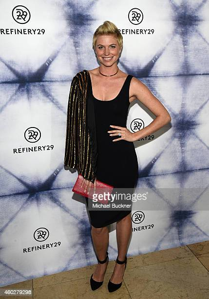 Internet personality Leah Ashley attends Refinery29 Los Angeles Holiday Party Hosted By R29 EditorAtLarge Drew Barrymore at Sunset Tower on December...