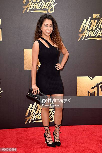 Internet personality Liza Koshy attends the 2016 MTV Movie Awards at Warner Bros Studios on April 9 2016 in Burbank California MTV Movie Awards airs...