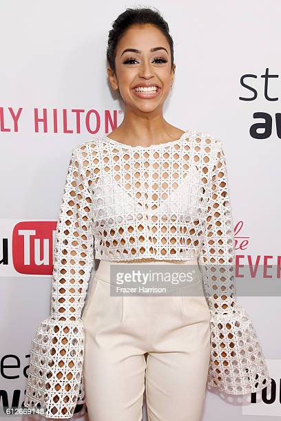 Internet personality Liza Koshy attends the 6th annual Streamy Awards hosted by King Bach and live streamed on YouTube at The Beverly Hilton Hotel on...