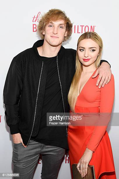 Internet personality Logan Paul and actress Peyton List attend the 6th annual Streamy Awards hosted by King Bach and live streamed on YouTube at The...