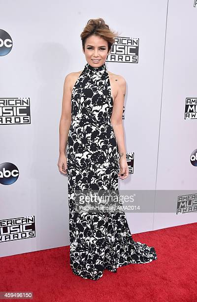 Internet personality Maiah Ocando attends the 2014 American Music Awards at Nokia Theatre L.A. Live on November 23, 2014 in Los Angeles, California.