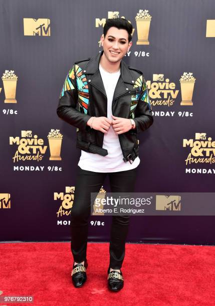 Internet personality Manny Mua attends the 2018 MTV Movie And TV Awards at Barker Hangar on June 16 2018 in Santa Monica California