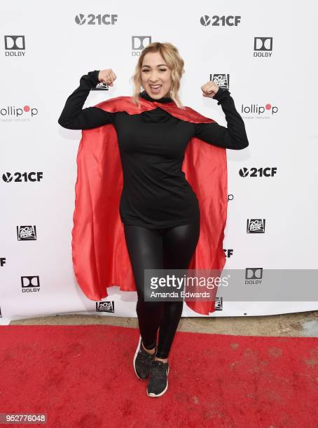 Internet personality Marilyn Flores attends the 2nd Annual Lollipop Superhero Walk benefiting the Lollipop Theater Network at Pan Pacific Park on...