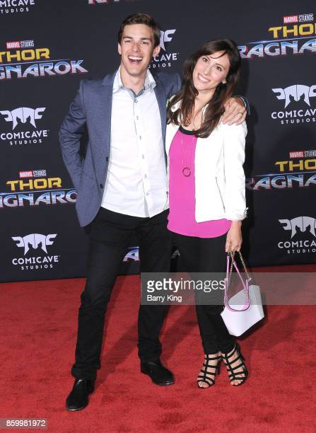 Internet personality Matthew Patrick and wife Stephanie Patrick attend the world premiere of Disney and Marvel's 'Thor Ragnarok' at El Capitan...