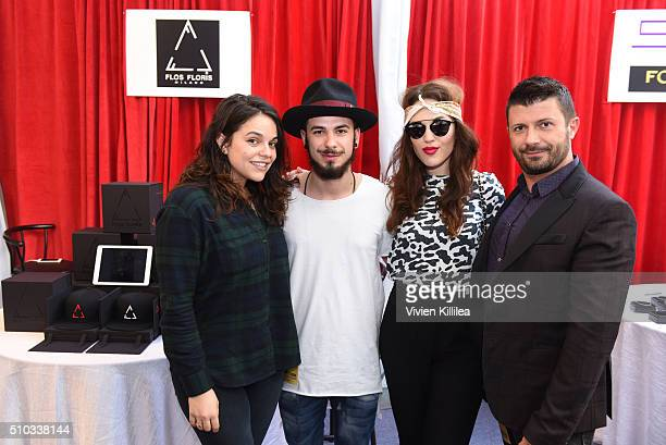 Internet personality Maya Burkenroad and Singer Faye Medeson attend the GRAMMY Gift Lounge during The 58th GRAMMY Awards at Staples Center on...
