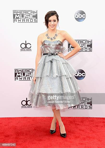 Internet personality Megan Nicole attends the 2014 American Music Awards at Nokia Theatre LA Live on November 23 2014 in Los Angeles California