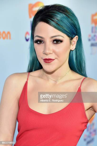 Internet personality Niki DeMartino at Nickelodeon's 2017 Kids' Choice Awards at USC Galen Center on March 11 2017 in Los Angeles California