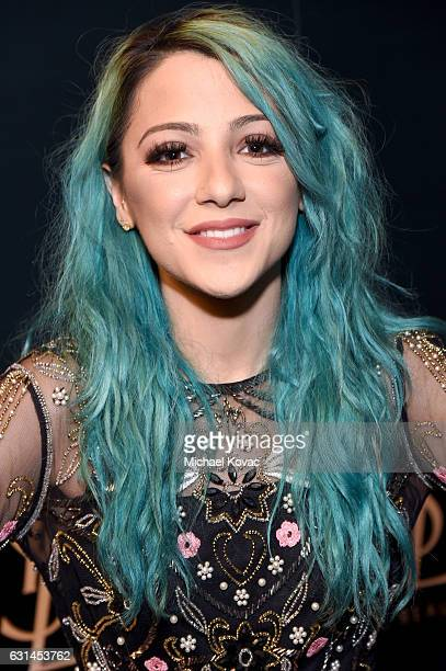 Internet personality Niki Demartino attends the YSL Beauty Club Party at the Ace Hotel on January 10 2017 in Downtown Los Angeles California