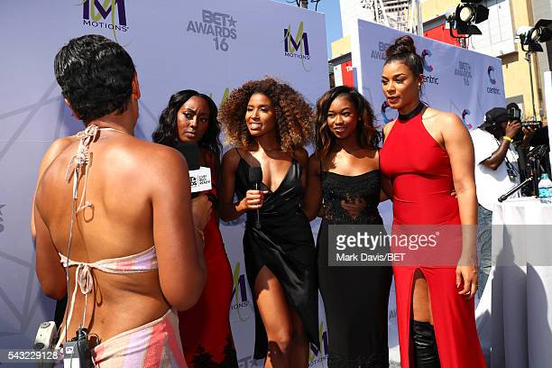 Internet personality Shameless Maya and recording artists Ashly Williams, Brienna DeVlugt, Shyann Roberts and Kristal Lyndriette of music group...